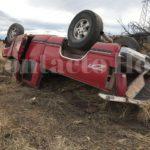 Aparatosa volcadura con lesionados sobre la carretera a México