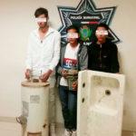Caen tres que se robaron hasta el boiler