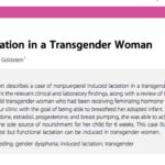Reportan primer caso documentado de lactación por mujer transgénero