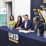 Firma de convenio entre COBAED y UNID para postgrados