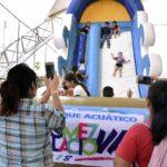La gran fiesta del Parque Acuático  recibe más de cinco mil personas