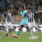 Argentino Izquierdoz celebra que Santos inicie la liguilla contra el campeón