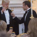 Trump y Macron brindan por su amistad en la cena de Estado