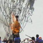 Denuncian racismo en España por quemar un muñeco de la dominicana Quezada
