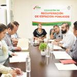 Comisión de Recuperación de EspaciosPúblicos revisa avances en la materia