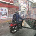 Intensa y extensa tormenta está cayendo en estos momentos en la ciudad de Durango