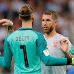 El capitán Ramos respalda a De Gea