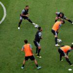 España se ejercitó en el Kazán Arena