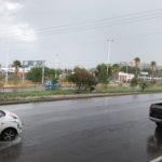 Fuerte aguacero cae sobre la ciudad de Durango, mañana menos y jueves y sábado más lluvia
