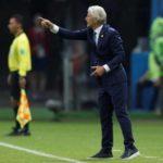 Pékerman muestra su alegría por el primer gol de Falcao en un Mundial