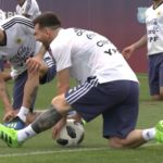Argentina completa su primer entrenamiento, a puertas cerradas, en Rusia