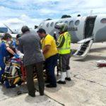 Marina traslada a México a dos heridos del Volcán de Fuego de Guatemala