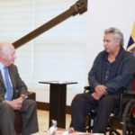 Presidente de Ecuador tuvo un breve encuentro con Ricardo Lagos en Quito
