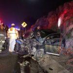 Brutal choque por alcance sobre la súper a Mazatlán con un lesionado; su vehículo acabó hecho pedacitos