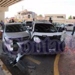 Tres niños, un bebé entre ellos, lesionados en aparatosa carambola entre 4 automóviles