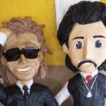 Luis Miguel y su polémico padre se convierten en piñatas en México