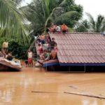 Al menos dos muertos en el hundimiento de la presa en Laos