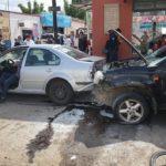 Chocó contra 15 vehículos con Xtrail que había robado, atropelló a policía y lesionó a otros uniformados
