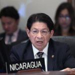 Canciller nicaragüense analiza con la ONU la necesidad de parar la violencia