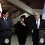 Guterres y Alvarado hablan sobre democracia y condenan violencia en Nicaragua