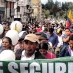 Marchan en Ecuador por integración y paz en zona fronteriza con Colombia