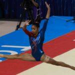 Marcia Videaux lidera triunfo de Cuba en gimnasia artística en su cumpleaños