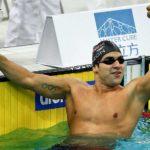 Colombiano Omar Pinzón triunfa en 100 metros dorso y rompe su propio récord