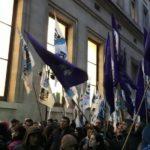 Una manifestación recibe a Lagarde en Buenos Aires mostrando rechazo al FMI