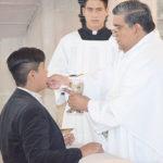 Guillermo Portillo Muñoz recibió el sacramento de la Primera Comunión