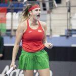 La bielorrusa Sabalenka no pudo superar la primera ronda