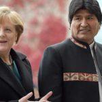 Morales invita a Merkel a Bolivia para hablar sobre litio y tren bioceánico
