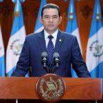 """Presidente de Guatemala apela a """"certeza jurídica"""" para promover desarrollo"""