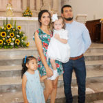 Sofía Valentina González Huerta llega a la pila bautismal