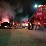 Fuego casi reduce una casa a cenizas en fraccionamiento Los Duraznos; hay fuertes daños materiales