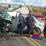 Horrible accidente en la carretera de Nixtalpan a Nombre de Dios con tres muertos, un bebé entre ellos