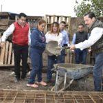 Leticia Herrera inicia construcción de 150 cuartos  adicionales en colonias y ejidos de Gómez Palacio