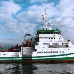 Nave mexicana de investigación sobre recursos pesqueros cruza Canal de Panamá