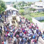 Leticia Herrera da banderazo de inicio a la  pavimentación de calles del ejido Las Huertas