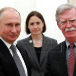 Putin dice a Bolton que Rusia está sorprendida por pasos inamistosos de EEUU