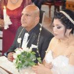 María Rivera y Javier Hernández se dieron el sí ante el altar