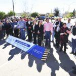 Entrega Aispuro modernización de bulevar Francisco Villa en Rodeo