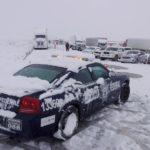 Por nevada cierran tramos de carreteras federales en Sonora