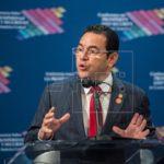 Jimmy Morales dice que los amigos de Guatemala creen en la vida y la familia