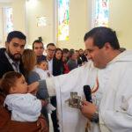 Bautizan al pequeño  Christopher Aarón Gamboa Saucedo